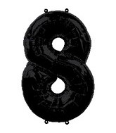 "34"" Anagram Brand Black Number 8 Balloon"