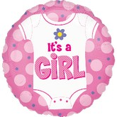 "18"" Baby Girl Onesie Balloon"