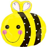"18"" Happy Bee Wings Shape Balloon"