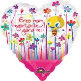 "18"" Heart Mex Eres Importante Transp"