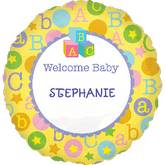 "18"" Baby Shower Animals Mylar Balloon Personalize"