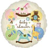 "18"" Baby Shower Animals Mylar Balloon"