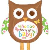 "27"" Whooo Loves You Baby Owl Balloon"