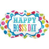 "27"" SuperShape Boss&#39s Day Dots Marquee Balloon"
