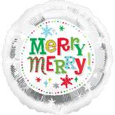 "18"" Merry Christmas Snowflakes Balloon"