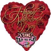 "29"" Singing Balloon The Best Valentine&#39s Day"
