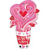 "28"" Love U Latte Jumbo Balloon"