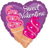 "18"" Happy Valentine&#39s Day Ice Cream Cones"