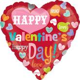 "18"" Happy Valentine&#39s Heart Messages"