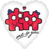 "18"" Me and You Puzzle Balloon"