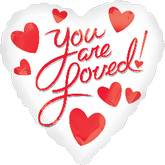 "18"" You are Loved! Mylar Balloon"
