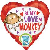"18"" Love Monkey Mylar Balloon"