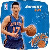 "18"" NBA Jeremy Lin Basketball Balloon"