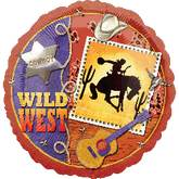 "18"" Wild West Balloon Cowboy and Horse"