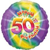 "18"" Happy 50th Birthday Mylar Balloon"