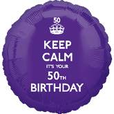 18'' Keep Calm 50th Birthday