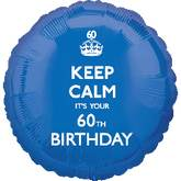 18&#39&#39 Keep Calm 60th Birthday