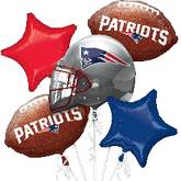 Patriots NFL 5 Balloon Bouquet