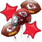 Chiefs NFL 5 Balloon Bouquet