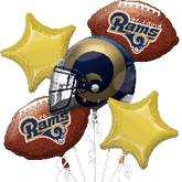 Rams NFL 5 Balloon Bouquet