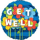 "18"" Get Well Garden Mylar Balloon"