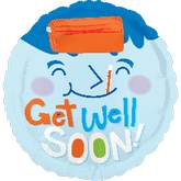 "18"" Get Well Soon Fever Mylar Balloon"