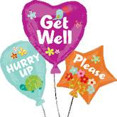 "32"" Get Well Balloon Cluster SuperShape"