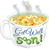 "29"" Get Well Cup of Soup SuperShape"