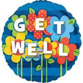 "32"" Get Well Garden Jumbo Balloon"