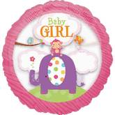 "26"" See Thru Baby Girl Safari Balloon"