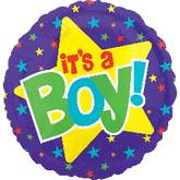 "21"" It&#39s A Boy Balloon Yellow Star"