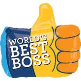 "18"" Boss&#39s Day Thumb Up Balloon"