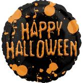 "18"" Happy Halloween Splatter Balloon"