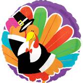 "21"" Bright Turkey Balloon"