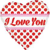 "18"" Love You Red Dots Mylar Balloon"