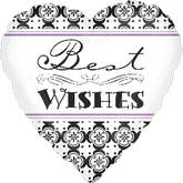 "18"" Damask Band Best Wishes"