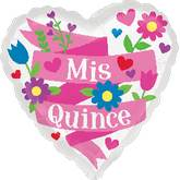 "18"" Mis Quince Banner Balloon"