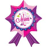 "18"" Best Mom Ever Ribbon Balloon"