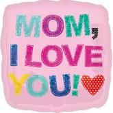 "18"" Stiched Love You Mom Balloon"