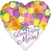 "18"" Love You Mom Bouquet Balloon"