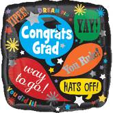 "18"" Grad Word Bubbles Balloon"
