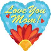 "28"" Love You Mom Daisy Balloon"