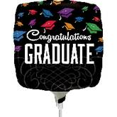 "9"" Aifill Only Congrats Graduate Black Balloon"