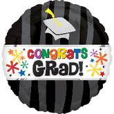 "32"" Congrats Grad Graduation Balloon Black"