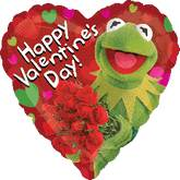 "18"" Happy Valentine&#39s Kermit Balloon"
