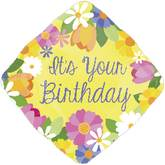 "18"" It`s Your Birthday Floral Mylar Balloon"