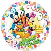 "18"" Mickey & Friends Party HBD"