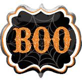 "25"" SuperShape Boo Marquee Balloon Packaged"