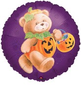 18&#39&#39 Pumpkin Bear Balloon