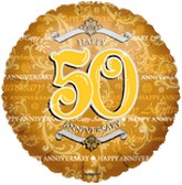 "18"" Golden Anniversary 50th Mylar Balloon"
